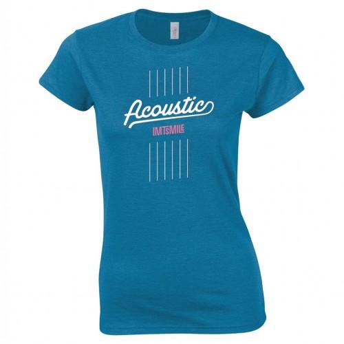 Tričko Acoustic - dámske tyrkysové