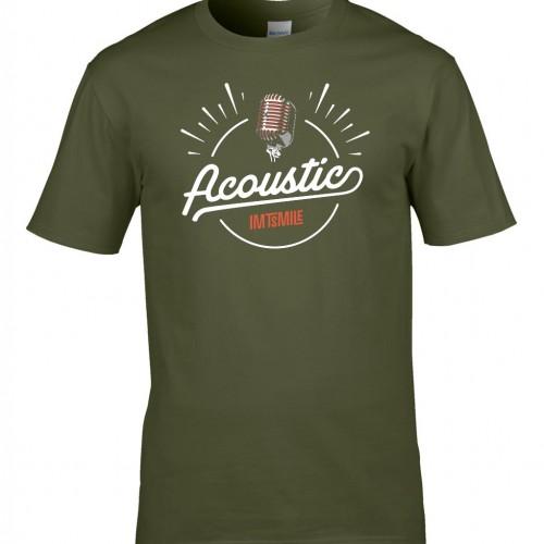 Tričko Acoustic - pánske zelené