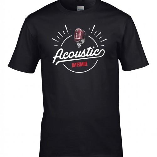 Tričko Acoustic - pánske čierne