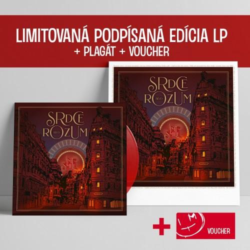 Limitovaná podpísaná edícia LP+Plagát+Voucher Srdce Rozum BLVD
